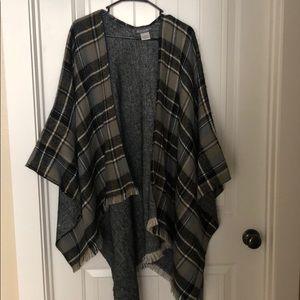 Plaid Blanket Scarf/Shawl